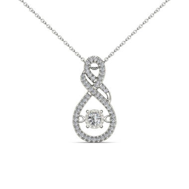 jcpenney.com | Love in Motion 1/2 CT. T.W. White Diamond Round 10K Gold Pendant