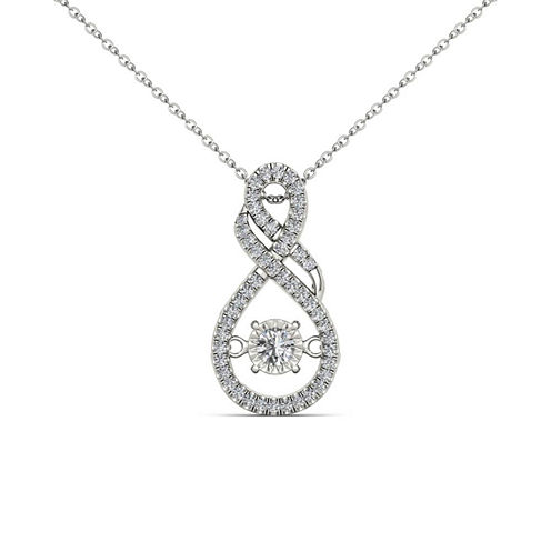 Love in Motion 1/2 CT. T.W. White Diamond Round 10K Gold Pendant