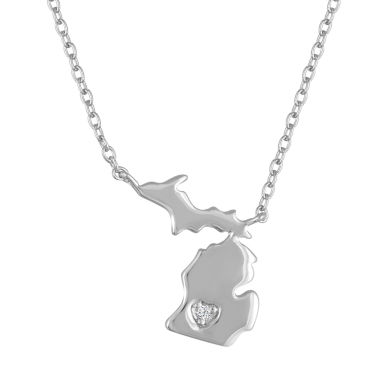 jcpenney.com | Diamond Accent Sterling Silver Michigan Pendant Necklace