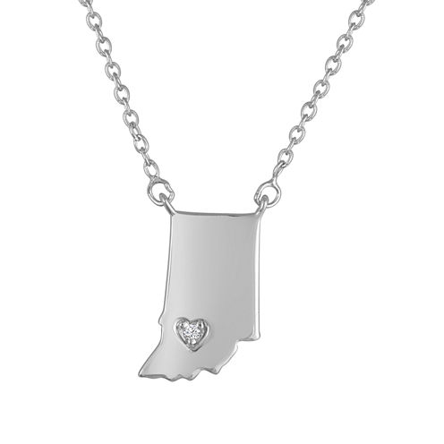 Diamond Accent Sterling Silver Indiana Pendant Necklace