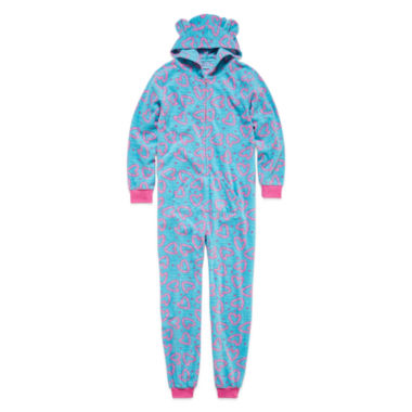jcpenney.com | Girls Long Sleeve One Piece Pajama-Big Kid