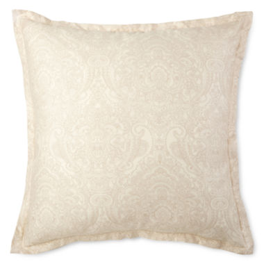 jcpenney.com | Royal Velvet Paisley Print Euro Pillow