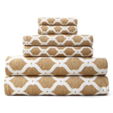 jcpenney.com | JCPenney Home™ Ogee Trellis Bath Towel Collection