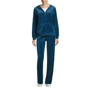 jcpenney.com | Made for Life™ Long-Sleeve Velour Hoodie or Velour Workout Pants