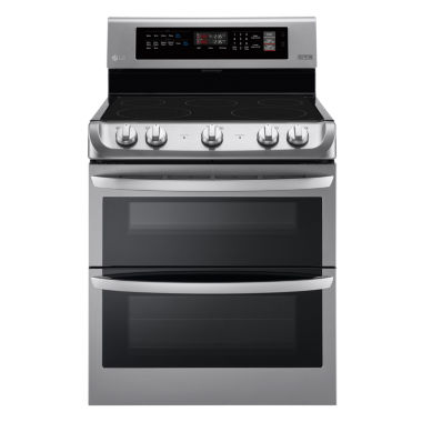 jcpenney.com | LG 7.3 cu. ft. Electric Double Oven Range with ProBake Convection™ and EasyClean®