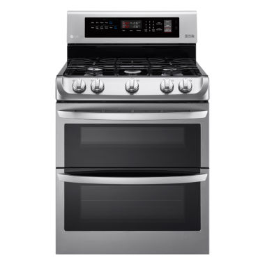 jcpenney.com | LG 6.9 cu. ft. Gas Double Oven Range with ProBake Convection™ and EasyClean®