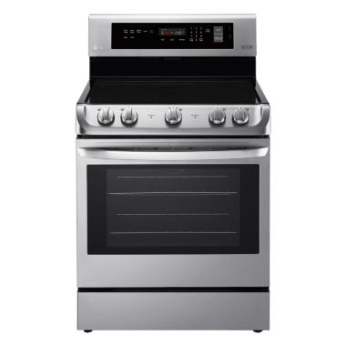 jcpenney.com | LG 6.3 cu. ft. Capacity Electric Single Oven Range with ProBake Convection™ and EasyClean®