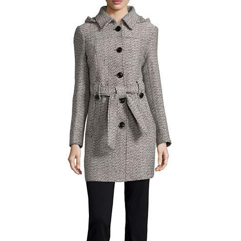 Liz Claiborne® Belted Pea Coat - Tall
