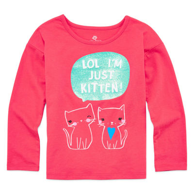 Okie Dokie® Long-Sleeve Dolman Graphic Tee - Toddler Girls 2t-5t