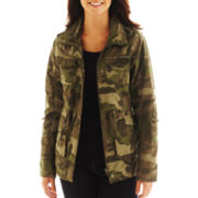 Coffee Shop Drawstring-Waist Camo Jacket