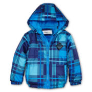 Little Chill Plaid Puffer Jacket - Boys 2t-4t