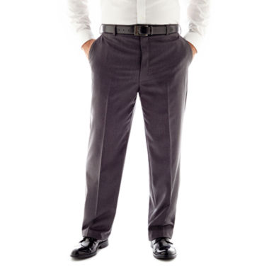 jcpenney.com | Stafford® Travel Flat-Front Suit Pants - Portly