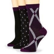 Mixit™ 3-pk. Print Crew Socks