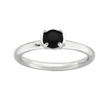 jcpenney.com | Personally Stackable Sterling Silver Black Agate Stackable Ring