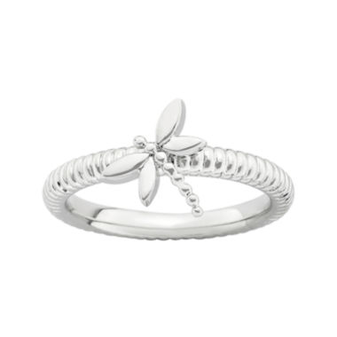 jcpenney.com | Personally Stackable Sterling Silver Stackable Dragonfly Ring