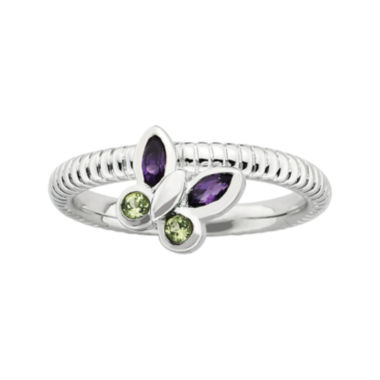 jcpenney.com | Personally Stackable Genuine Gemstone Sterling Silver Butterfly Ring