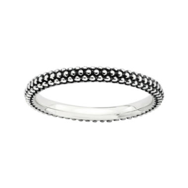 jcpenney.com | Personally Stackable Sterling Silver Oxidized Stackable Beaded Ring