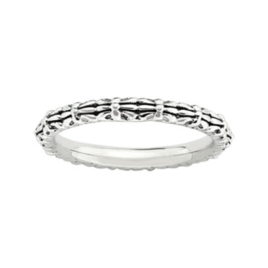 jcpenney.com | Personally Stackable Sterling Silver Oxidized Stackable Ring