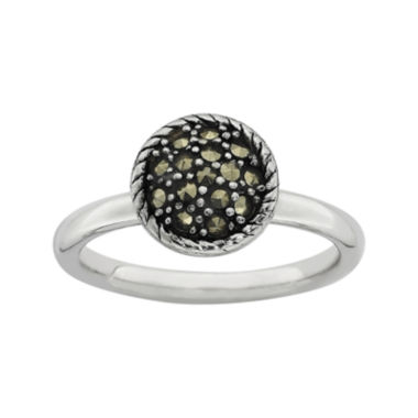 jcpenney.com | Personally Stackable Marcasite Sterling Silver Stackable Ring