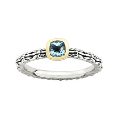 jcpenney.com | Personally Stackable Genuine Blue Topaz Oxidized Two-Tone Stackable Ring
