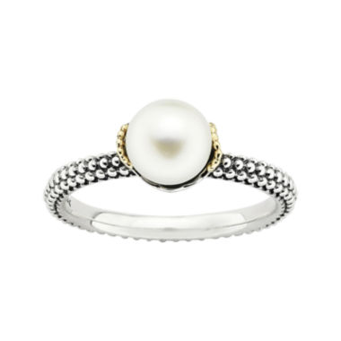 jcpenney.com | Personally Stackable Cultured Freshwater Pearl Two-Tone Stackable Ring