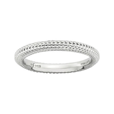 Personally Stackable Sterling Silver Beaded Dome Ring