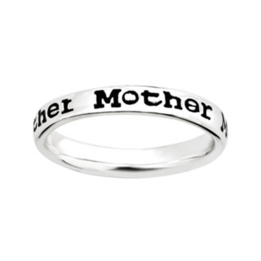 "jcpenney.com | Personally Stackable Sterling Silver Stackable ""Mother"" Ring"