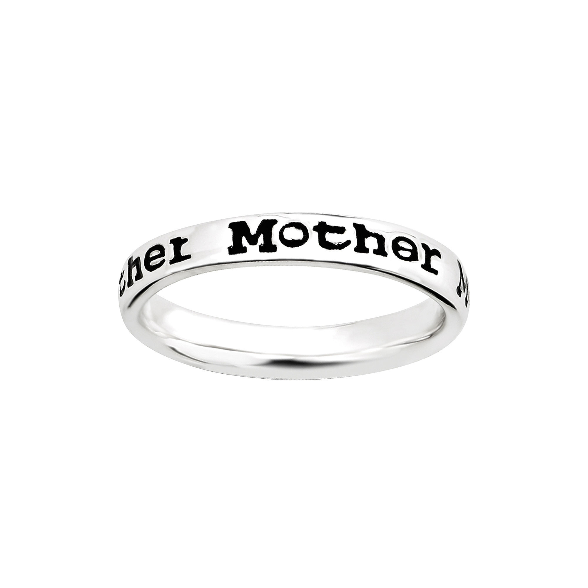 """Personally Stackable Sterling Silver Stackable """"Mother"""" Ring"""