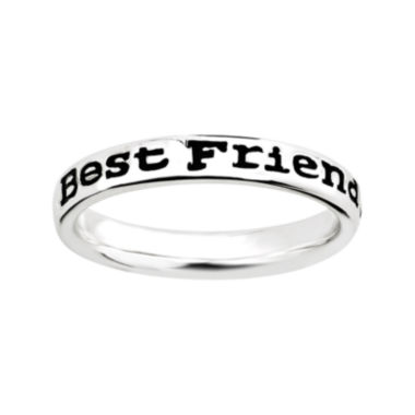 "jcpenney.com | Personally Stackable Sterling Silver Stackable ""Friends"" Ring"