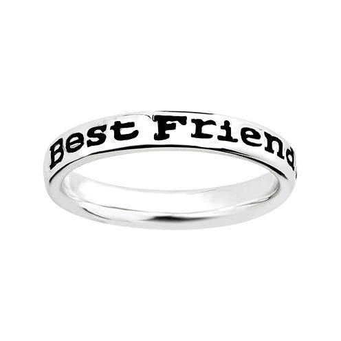 """Personally Stackable Sterling Silver Stackable """"Friends"""" Ring"""