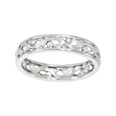 jcpenney.com | Personally Stackable Sterling Silver Carved Ring