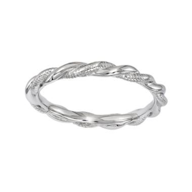 jcpenney.com | Personally Stackable Sterling Silver Twisted Stackable Ring