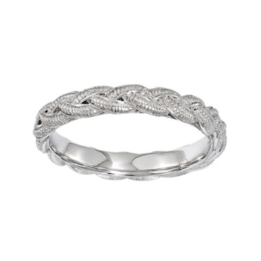 jcpenney.com | Personally Stackable Sterling Silver Twisted Rope Stackable Ring