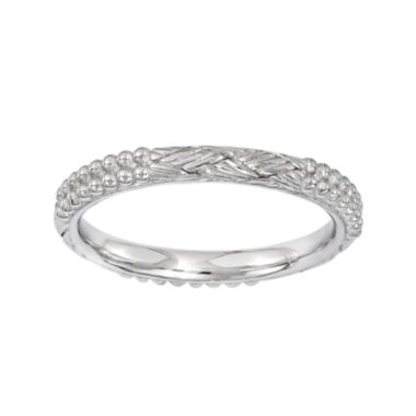 jcpenney.com | Personally Stackable Sterling Silver Patterned Stackable Ring