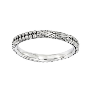 jcpenney.com | Personally Stackable Sterling Silver Antique Patterned Stackable Ring