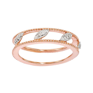 jcpenney.com | Personally Stackable Diamond-Accent 18K Rose Gold Over Sterling Silver Ring