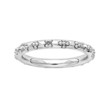 jcpenney.com | Personally Stackable Sterling Silver Flower Stackable Ring