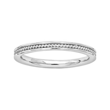 jcpenney.com | Personally Stackable Sterling Silver Channel Stackable Ring