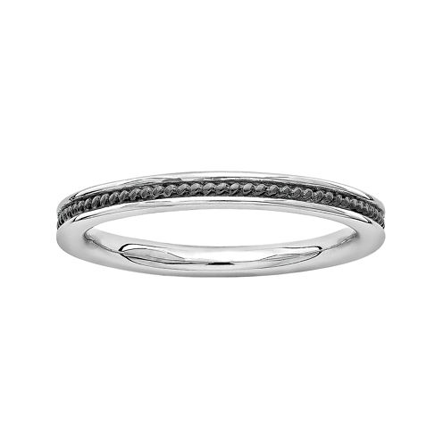 Personally Stackable Sterling Silver Channel Stackable Ring