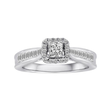 jcpenney.com | 3/4 CT. T.W. Certified Diamond 14K White Gold Bridal Ring