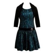Emily West® Sleeveless Dress and Shrug – Girls 7-16
