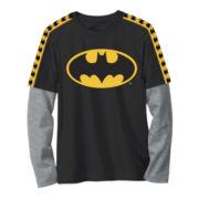 Batman Long-Sleeve Graphic Knit Tee – Boys 6-18