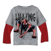 Spider-Man Long-Sleeve Graphic Knit Tee – Boys 2t-5t