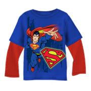 Superman Long-Sleeve Graphic Knit Tee – Boys 6-18