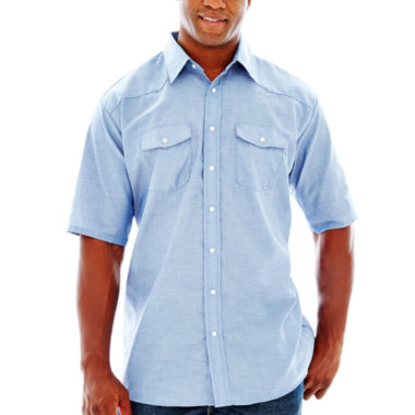 jcpenney.com | Red Kap® Short-Sleeve Western-Style Shirt–Big & Tall