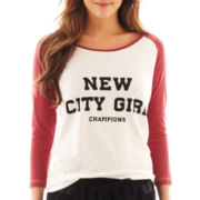MNG by Mango® 3/4-Sleeve City Girl Screen Tee