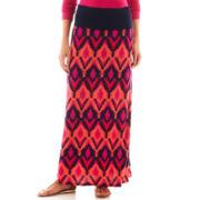 a.n.a® Ikat Print Foldover Maxi Skirt