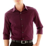 Claiborne® Striped Long-Sleeve Button-Front Shirt