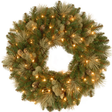 "jcpenney.com | National Tree Company® 24"" Carolina Pine Pre-Lit Wreath"
