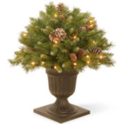 "National Tree Company® 24"" Frosted Berry Pre-Lit Porch Bush"